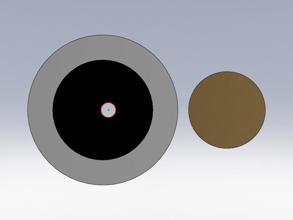rechts im Bild eine Euromünze als Maßstabsvergleich